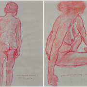 10-Nude 1 & 2, 2012 RM 4,620.00-SOLD | Pastel on paper | 42 x 29.5 cm x 2 pieces