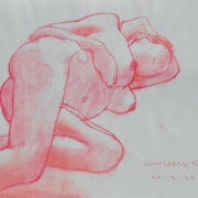13- RM896 Reclining Nude, 2012 Pastel on paper, 29.6 x 42 cm