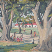 4-Carnorvan Street, Undated RM 19,800.00-SOLD | Oil on board | 30 x 40 cm