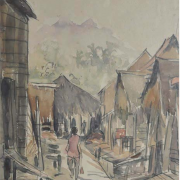 2-Fishing Village, Undated RM 4,730.00-SOLD | Watercolour on paper | 38 x 28 cm