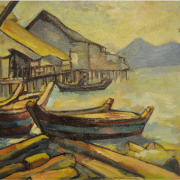 5-Fishing Village, Undated RM 11,000.00-SOLD | Oil on board | 38 x 53 cm
