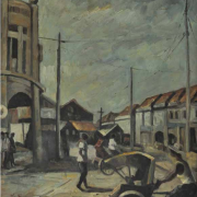 7-Carnorvan Street, Undated RM 14,300.00-SOLD | Oil on board | 46.5 x 42 cm