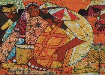 1-Market-Scene-1968-RM-15950.00-SOLD-Batik-53.5-x-152.5-cm
