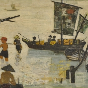 Boats In The Sea, 1961 RM 39,600.00-SOLD | Oil on canvas | 49 x 99 cm