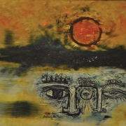 3-Blue Clouds, 1970 RM 9,900.00-SOLD | Oil on canvas | 76 x 89 cm
