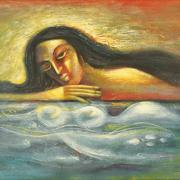 1-Dream, 1987 RM 11,000.00-SOLD | Acrylic on canvas | 60 x 90 cm