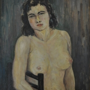 Sitting Nude, Undated RM 12,100.00-SOLD | Oil on canvas laid on board | 53.5 x 49.5 cm