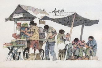 Lot-65-Lee-Eng-Beng-Char-Mee-Hoon-and-Red-Bean-Soup-2006-Watercolour-on-paper-18-x-28-cm
