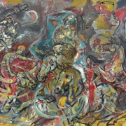 Lee Joo For, The Spirit That Cannot Be Contained, 1980 Mixed media on canvas 144 x 200 cm