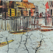 9-Still Living, 1977 - 1978 RM 15,400.00-SOLD | Batik on rice paper mounted on canvas | 63 x 93.5 cm