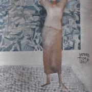 12-Present-Past, 1981 RM 2,688.00-SOLD | Watercolour on paper 53 x 34 cm