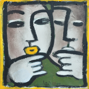 13-Point To, 2009 RM 5,600.00-SOLD | Oil on canvas 35 x 35 cm