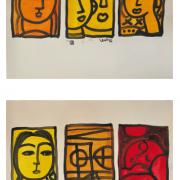 17- RM 4,032 Talk Not Series-Awake Asleep, 1999 Talk Not Series-Three Faces, 1999 Watercolour on paper 57 x 81 cm