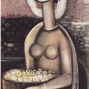 2-Siti, 1997 RM 14,300.00-SOLD | Oil on canvas | 105 x 56 cm