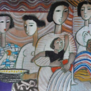 3-Family, 1990 RM 4,400.00-SOLD | Pastel on paper | 55 x 37.2 cm