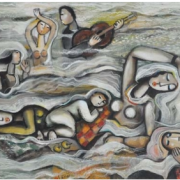 4-Song of Nature, 2001 RM 22,000.00-SOLD | Oil on canvas | 90 x 120 cm