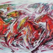 3-RM 11,200 Transfform Series 7, 2014 Oil on canvas 91 x 183 cm