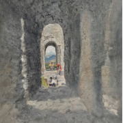 Ancient Chateau I, France, 1985 RM 13,750.00-SOLD | Watercolour on paper | 74 x 55 cm