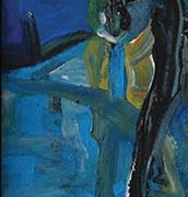 Abstract, 1994 RM 13,440.00-SOLD | Mixed media on board | 200 x 40 cm
