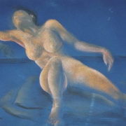3-Nude Portrait : Australian Lady, 1994 RM 10,450.00-SOLD | Pastel on paper | 38 x 53.5 cm