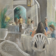 4-Tea Room At Carcosa, 1992 RM 5,280.00-SOLD | Pastel on paper | 54.5 x 37 cm