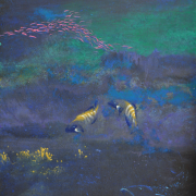 8- RM 7,840 Peacock Rock Cod & Coral, 2001 Acrylic on canvas 121 x 91 cm
