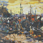 Fishing Life, 2006 RM 7,150.00-SOLD | Oil on canvas | 59 x 78.5 cm