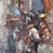 Street Scene, Undated RM 6,600.00-SOLD | Oil on board | 28.4 x 22 cm