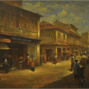 2-Jonker Street, Malacca, 2000 RM 17,050.00-SOLD | Oil on canvas | 69.5 x 90 cm