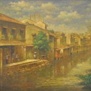 4-Melaka River, 2000 RM 8,250.00-SOLD | Oil on canvas | 75 x 121 cm