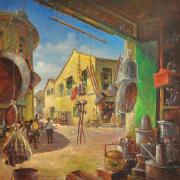 5-RM13,440 Jalan Hang Kasturi, Malacca, 2008 Oil on canvas, 107 x 107 cm