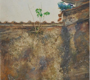 3-Edge-of-Temple-1986-RM-7150.00-SOLD-Mixed-media-on-paper-71-x-53-cm