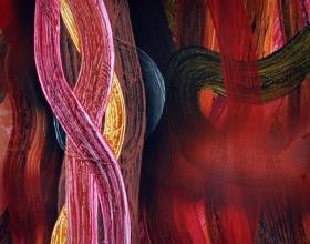 13-Daud Rahim. Tenaga Dalam Ruang 7, 2008. Acrylic on Jute, 182cm x 152cm