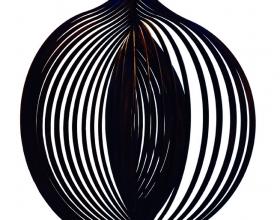35-Multhalib Musa. Tri-Involute, 2005. Lasercut Mildsteel with 2k clear Coat. 70cm x 70cm x 120cm