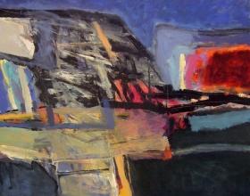 50-Tajuddin Ismail. Rentakalam, 2002. 137cm x 152cm. Acrylic on Canvas