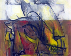 54-Yusof Ghani. Topeng Sketch, 1996. Mixed Media on Paper. 28cm x 40.5cm