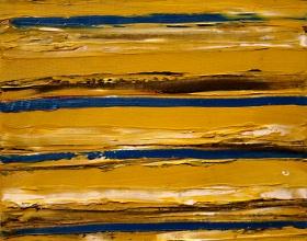 56-Yusof Majid. Sea Sand II, 2002. 24cm x 24cm. Acrylic on Canvas