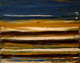 57-Yusof Majid. Sea Sand III, 2002. 24cm x 24cm. Acrylic on Canvas