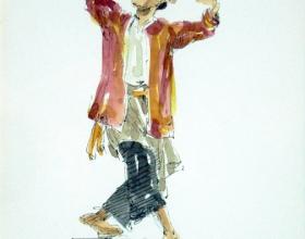 2-Ahmad Zaki. Silat I, 2004. Ink & Color on Paper. 18cm x 27cm