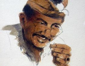 3-Ahmad Zakii Anwar. Mymar Sereti, 1998. Mixed on Paper. 44cm x 48cm