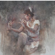 Radha, 2009 RM 8,800.00-SOLD | Oil on canvas | 75 x 100 cm
