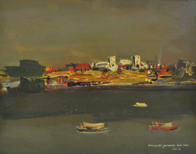 "2 ""Sarawak's Governor Lives Here"" (2009) Oil on Board 22.5cm x 30.5cm"