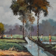 M. Zain, Paddy Field 1965 Oil on canvas 38.5 x 58.5 cm