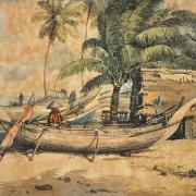 Mohd Zain Idris Fishing Village Kuala Besut Terengganu Watercolour on paper 36.5 x 56.5 cm