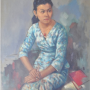 1-Portrait of Zoebaidah, 1958 RM 132,000.000-SOLD | Oil on canvas | 82 x 66.5 cm