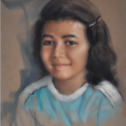 2-For Tina, Sayang from Kakek, 1981 RM 26,400.00-SOLD | Pastel on paper | 43 x 33 cm