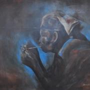 "Mohd Khairul Izham ""Coal Miner"" (2008) 90cm x 107cm Mixed Media on Canvas RM 3,500 - RM 5,500"