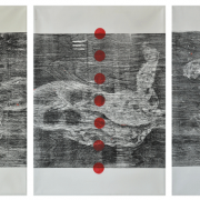 13-RM 17,920 Raduan Man Scentia, Man & Nature Series I, II, II, 2006 MIxed media on canvas 90.5 x 130 cm x 3 pieces