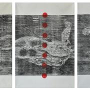 13-RM 17,920 Raduan Man Scentia, Man & Nature Series I, II, II, 2006 MIxed media on canvas 90.5 x 130 cm x 3 pieces