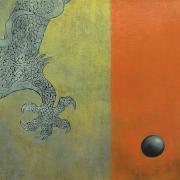 14-RM3,960 Dragon Ball 3, 2004 Woodcut on canvas 61 x 61 cm